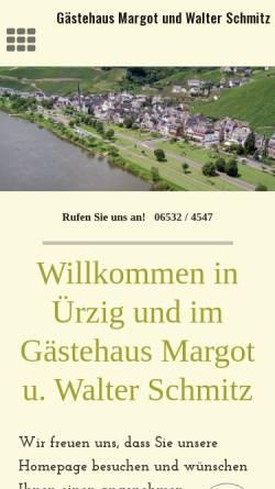 Vorschau der mobilen Webseite www.weingut-walterschmitz.de, Weingut Walter Schmitz