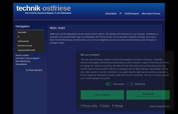 Vorschau von www.technik-ostfriese.com, Technik-Ostfriese
