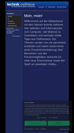 Vorschau der mobilen Webseite www.technik-ostfriese.com, Technik-Ostfriese