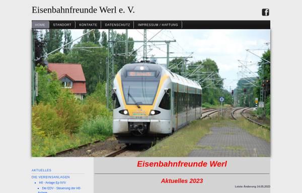 Vorschau von www.eisenbahnfreunde-werl.de, Eisenbahnfreunde Werl