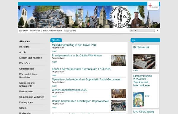Vorschau von www.propstei-werl.de, Propstei St. Walburga