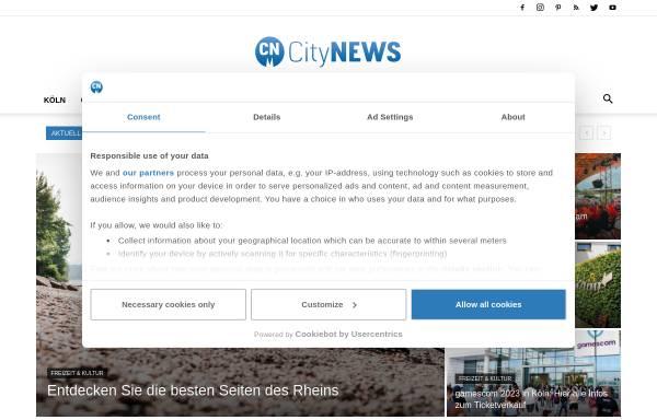 Vorschau von www.citynews-koeln.de, CityNEWS - das Stadtmagazin für Köln und die Region