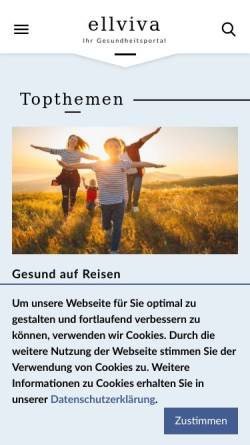 Vorschau der mobilen Webseite www.ellviva.de, Ellviva