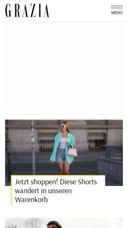 Vorschau der mobilen Webseite www.grazia-magazin.de, Grazia-Magazin.de