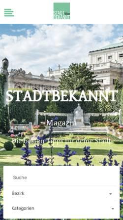 Vorschau der mobilen Webseite www.stadtbekannt.at, Stadtbekannt