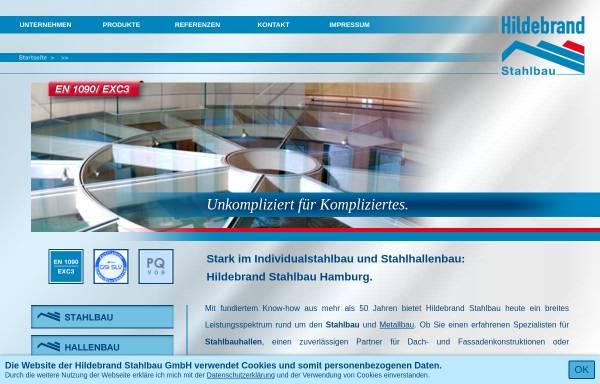 Vorschau von www.hildebrand-stahlbau.de, Hildebrand Stahlbau GmbH