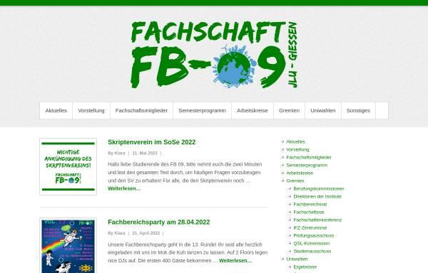 Vorschau von fb09.org, Fachschaft Agrarwissenschaft, Ökotrophologie und Umweltmanagement der Justus-Liebig-Universität Gießen