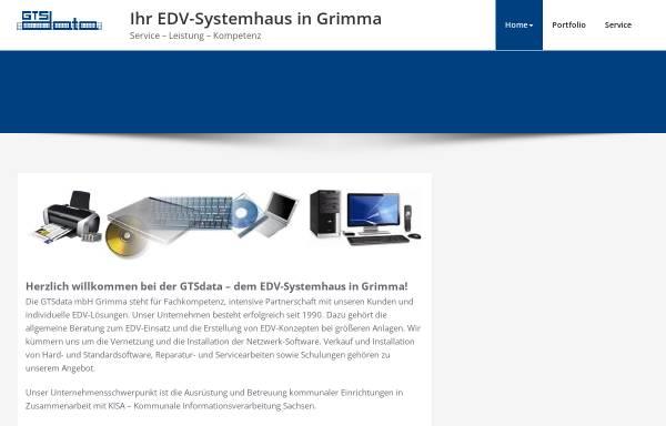 Vorschau von www.gtsdata.de, GTSdata mbH