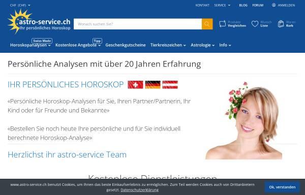 Vorschau von www.astro-service.ch, Astro-Service Horoskopanalysen