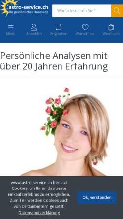 Vorschau der mobilen Webseite www.astro-service.ch, Astro-Service Horoskopanalysen