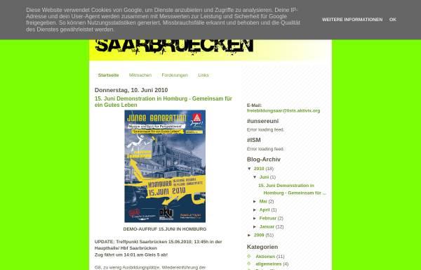 Vorschau von www.freiebildungsaar.blogspot.com, Freie Bildung Saar