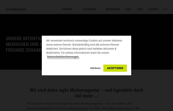 Vorschau von www.intention.de, Intention Werbeagentur GmbH