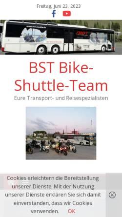 Vorschau der mobilen Webseite www.bike-shuttle-team.de, Bike Shuttle Team