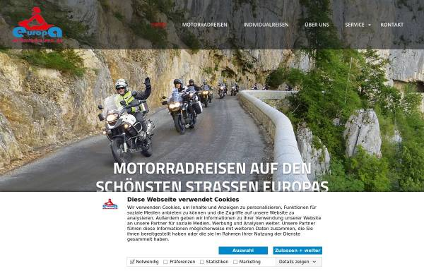 Vorschau von www.europa-motorradreisen.de, Europa-Motorradreisen - Klaus Schoenmakers & Norbert Linke GbR