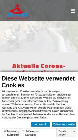 Vorschau der mobilen Webseite www.europa-motorradreisen.de, Europa-Motorradreisen - Klaus Schoenmakers & Norbert Linke GbR