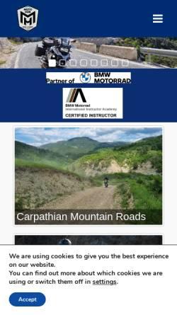 Vorschau der mobilen Webseite rideinromania.com, Motorradtouren in Rumänien - Famous Tours & Travel