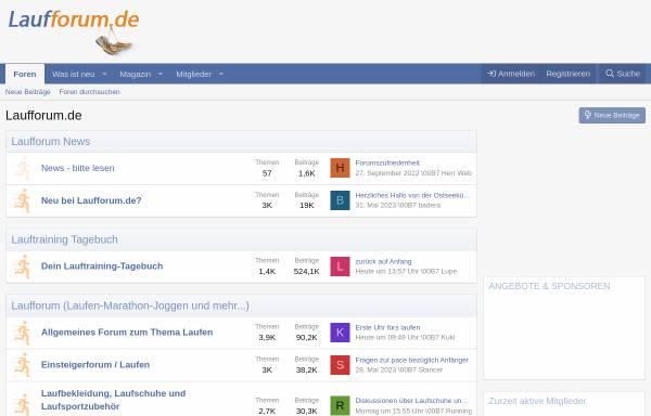 Vorschau von www.laufforum.de, Laufforum.de