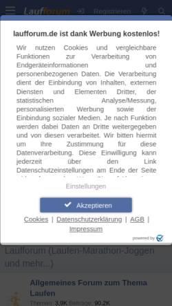 Vorschau der mobilen Webseite www.laufforum.de, Laufforum.de