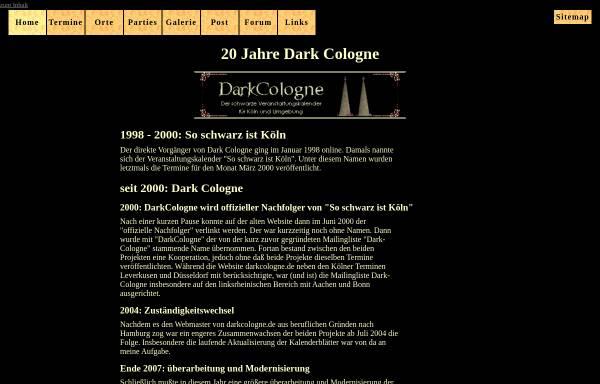 Vorschau von dark-cologne.de, Dark Cologne