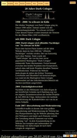 Vorschau der mobilen Webseite dark-cologne.de, Dark Cologne