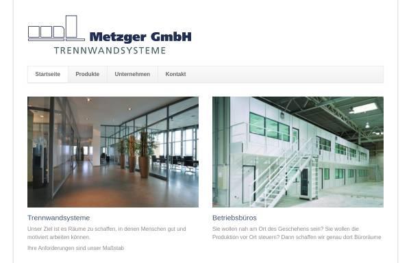 Vorschau von www.metzger-trennwand.de, Metzger GmbH