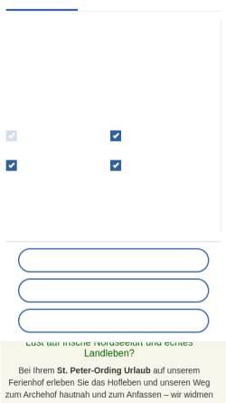 Vorschau der mobilen Webseite www.bauernhof-voss.de, Bauernhof Voß