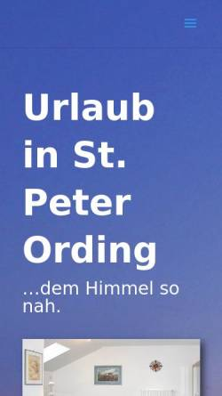 Vorschau der mobilen Webseite www.spo-hanack.de, Ferien-Appartements in St. Peter-Ording