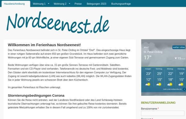 Vorschau von www.nordseenest.de, Ferienhaus