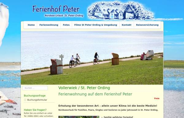 Vorschau von www.ferienhof-peter.de, Ferienhof Peter