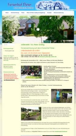 Vorschau der mobilen Webseite www.ferienhof-peter.de, Ferienhof Peter