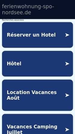 Vorschau der mobilen Webseite www.ferienwohnung-spo-nordsee.de, Ferienwohnung