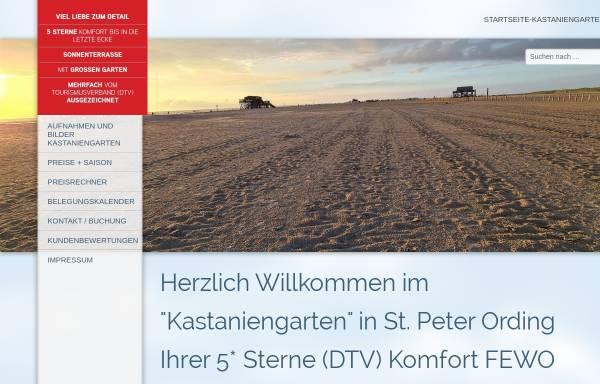 Vorschau von www.st-peter-ording-kastaniengarten.de, Ferienwohnung
