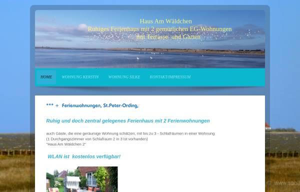 Vorschau von sanktpeter-ording.info, Ferienwohnungen Am Wäldchen 2