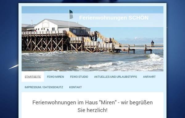 Vorschau von ferienwohnungen-schoen-sankt-peter-ording.de, Ferienwohnungen Schön