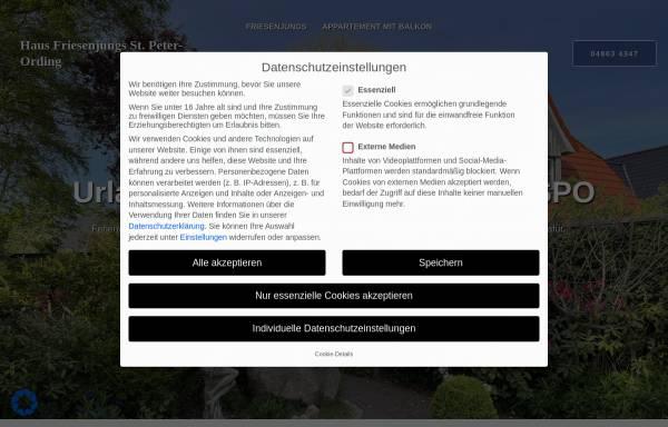 """Vorschau von www.friesenjungs-st-peter-ording.de, Haus """"Friesenjungs"""""""