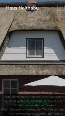 Vorschau der mobilen Webseite www.haus-haithabu.de, Haus Haithabu