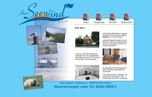 Vorschau von www.haus-seewind-picht.de, Haus Seewind