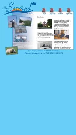 Vorschau der mobilen Webseite www.haus-seewind-picht.de, Haus Seewind