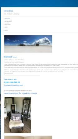 Vorschau der mobilen Webseite www.strandeck.com, Haus Strand-Eck