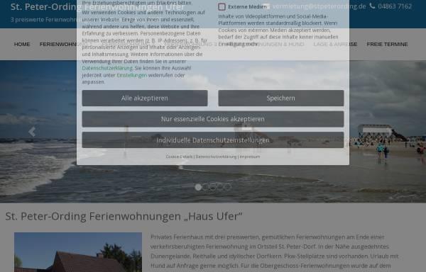Vorschau von www.stpeterording.de, Haus Ufer