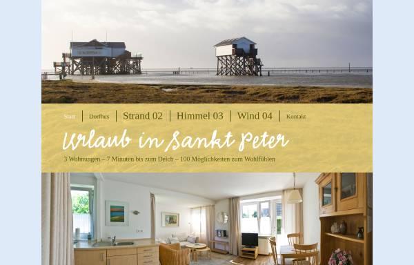 Vorschau von ferienwohnungen-st-peter.de, Sandpedder Ferienwohnungen