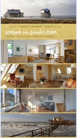 Vorschau der mobilen Webseite ferienwohnungen-st-peter.de, Sandpedder Ferienwohnungen
