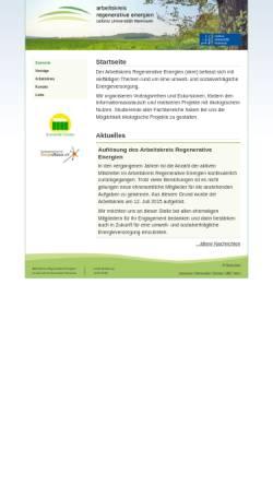 Vorschau der mobilen Webseite www.neue-energien.org, Arbeitskreis Regenerative Energien (Leibniz Universität Hannover)