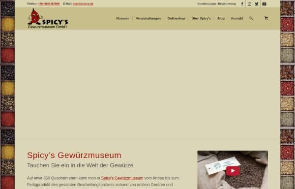 Vorschau von www.spicys.de, Spicy's Gewürzmuseum
