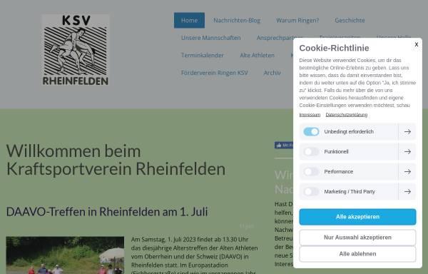 Vorschau von www.ksv-rheinfelden.de, Kraftsportverein Rheinfelden (Baden) 1936 e.V.