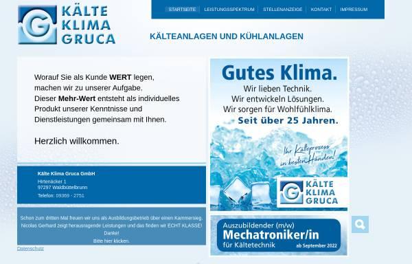 Vorschau von www.klima-gruca.de, Kälte Klima Gruca