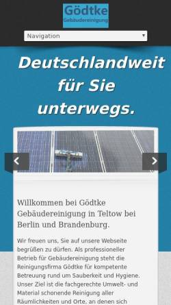 Vorschau der mobilen Webseite www.berlin-reinigung.com, Gebäudeservice Berlin