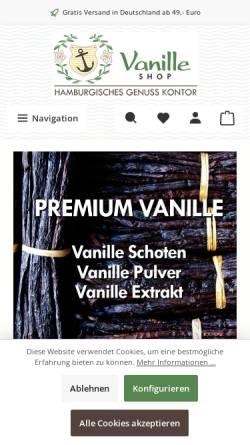 Vorschau der mobilen Webseite www.vanille-shop.de, Vanille Shop, Wolfgang Hachmann GmbH