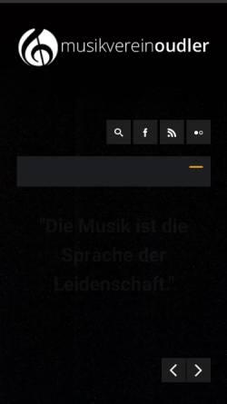 Vorschau der mobilen Webseite www.mvoudler.be, Musikverein Oudler