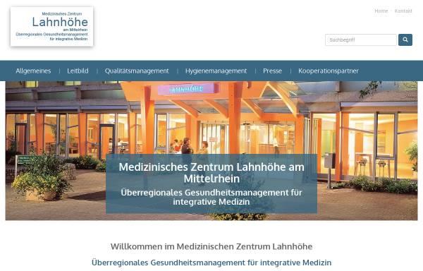 Vorschau von www.lahnhoehe-psychosomatik.de, Krankenhaus Lahnhöhe